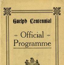 Image of Guelph Centennial Official Programme, August 1927