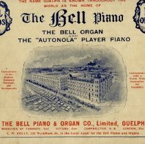 Image of Back Cover, Bell Piano and Organ Co. Advertisement