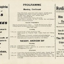 Image of Old Home Week Programme for Monday and Tuesday