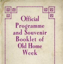 Image of Official Programme & Souvenir Booklet of Old Home Week, 1908