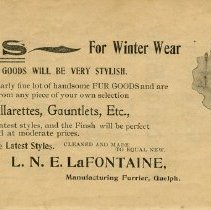 Image of Ad, L.N.E. LaFontaine, Manufacturing Furrier, page36
