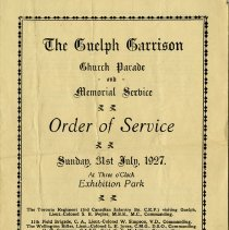 Image of The Guelph Garrison Memorial Service, July 1927