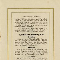 Image of Programme - Wednesday - Military Day, p.9