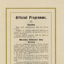 Image of Official Programme, Sunday and Monday, p.3