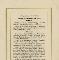Image of Programme - Tuesday - American Day, p.7