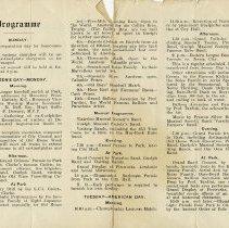Image of Programme - Sunday, Monday, Tuesday, pp.1-2