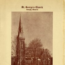 Image of Dedication Service Program, St. George's Church, 1959