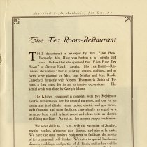 "Image of ""The Tea Room-Restaurant,"" page 17"