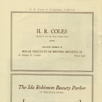 Image of Ads for H.R. Coles and The Ida Robinson Beauty Parlour, page 20