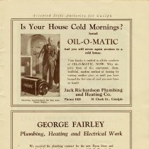 Image of Ads for Jack Richardson Plumbing and George Fairley, Plumbing, page 21