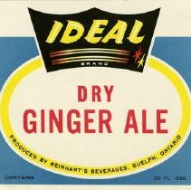 Image of Bottle Label forReinhart's Ideal Brand Dry Ginger Ale
