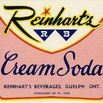 Image of Label for Reinhart's RB Cream Soda