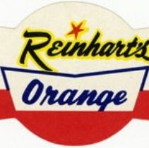 Image of Bottle Label for Reinhart's RB Orange Soda