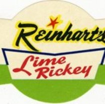 Image of Bottle Label for Reinhart's Lime Rickey