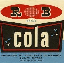 Image of Bottle Label for R B Brand Cola