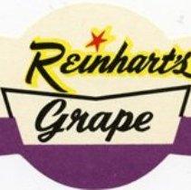 Image of Bottle Label for Reinhart's Grape Soda