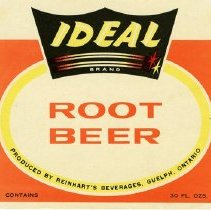Image of Bottle Label for Ideal Brand Root Beer