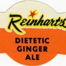 Image of Bottle Label for Reinhart's Dietetic Ginger Ale