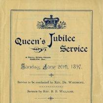 Image of Queen's Jubilee Service, June 20th, 1897