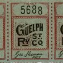 Image of Guelph Street Railway General Fare Tickets