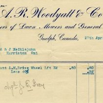 Image of Invoice, A. R. Woodyatt & Co., 1900