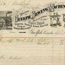 Image of Invoice from Guelph Sewing Machine Co., 1880