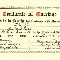 Image of 1977.112.3 - Certificate, Marriage