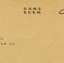 Image of Notification Card addressed to D.E. Paul of Guelph