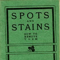 """Image of Booklet, """"Spots and Stains"""", Courtesy of A.B. Petrie"""