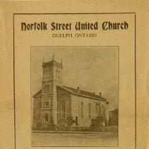Image of Norfolk St. United Church Program, Oct. 3, 1926