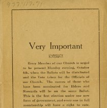 Image of Notice of Meeting for Church Members, back cover