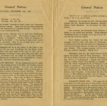 Image of General Notices, Sunday, Dec. 14th, 1924