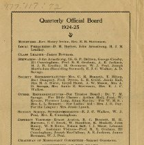 Image of Quarterly Official Board, 1924-25