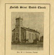 Image of Norfolk St. United Church Program, June 12, 1927
