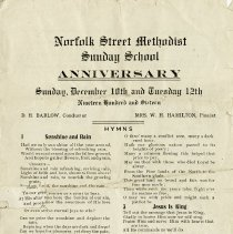 Image of Sunday School Anniversary, Norfolk St. Methodist Church, 1916