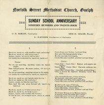 Image of Sunday Schoo Anniversary, Norfolk St. Methodist Church, 1924