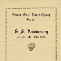 Image of Norfolk St. United Church S.S. Anniversary Program, 1929