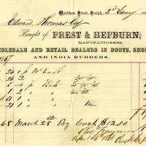 Image of Prest & Hepburn Invoice, 1868