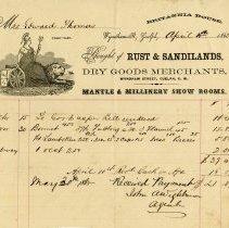 Image of Statement from Rust & Sandilands, Dry Goods Merchants, 1865