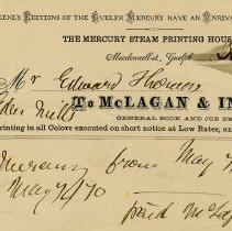 Image of Invoice from The Mercury Steam Printing House, 1869