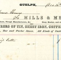 Image of Mills & Melvin Invoice, 1867