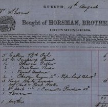 Image of Statement, Horsman Bros., Ironmongers, 1862