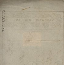 Image of Back of Promissory Note, John Horsman Signature