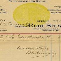 Image of Invoice, Robert Stewart, 1900