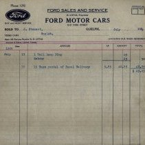 Image of Statement from Ford Sales & Service, 1929