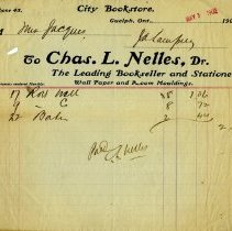 Image of Invoice from Charles L. Nelles, 1902