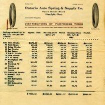 Image of Price List, F. E. Partridge Rubber Company
