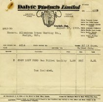 Image of Invoice, Dalyte Products Limited, 1928