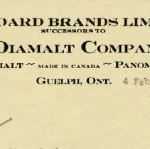 Image of Trimmed Letterhead, Standard Brands Limited, 1930