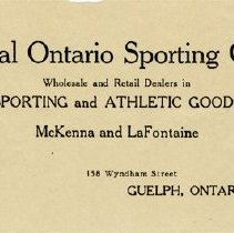 Image of Central Ontario Sporting Goods Co. Letterhead, 1929
